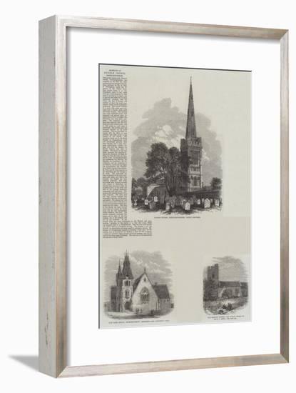 British Churches--Framed Giclee Print