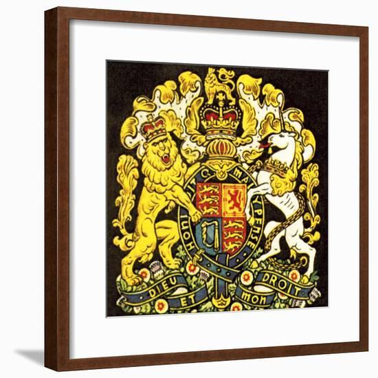 British Coat of Arms-English School-Framed Giclee Print