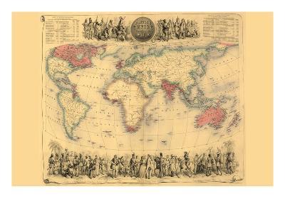 British Empire Throughout the World-John Bartholemew-Art Print