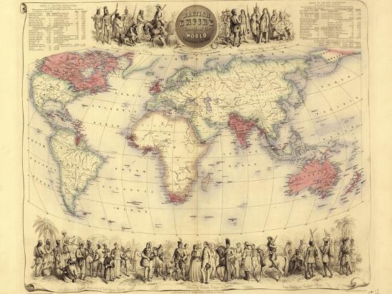 British Empire World Map, 19th Century Photographic Print by Library of  Congress | Art com