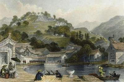 British Encampment Irgao Shan-Thomas Allom-Art Print