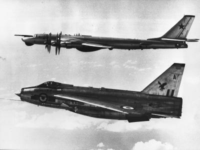 British Fighter Intercepting Soviet Bomber--Photographic Print