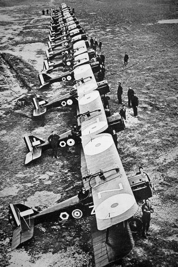 British Fighter Squadron in France, 1918--Photographic Print