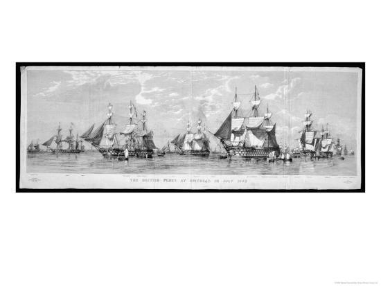 British Fleet Spithead: Nerbudda-Edward Duncan-Giclee Print