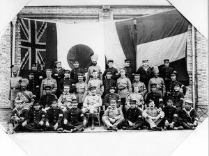 British, French, German and Japanese Officers in Shanghai, 1900