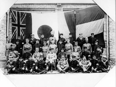 British, French, German and Japanese Officers in Shanghai, 1900--Photographic Print