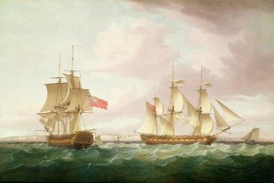 British Frigates Off Dover-Thomas Whitcombe-Giclee Print
