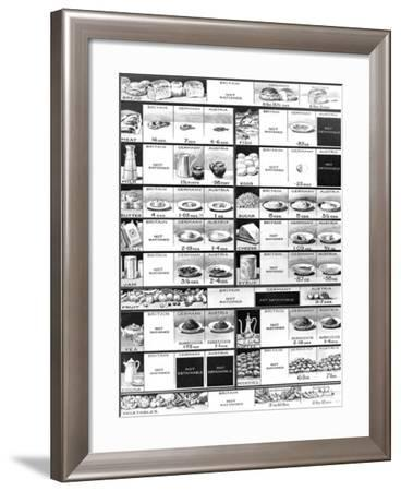 British, German and Austrian Rations, First World War, 1918--Framed Photographic Print
