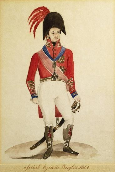 British Infantry Army Soldiers During the Invasion of Buenos Aires in 1806--Giclee Print