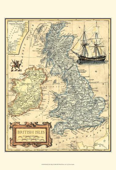 British Isles Map--Art Print