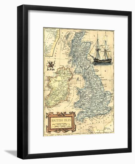 British Isles Map-Vision Studio-Framed Art Print