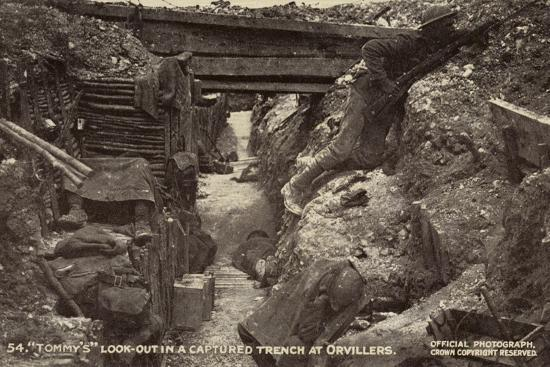 British Look-Out in a Captured Trench at Orvillers, Battle of the Somme, World War I, 1916--Photographic Print