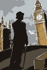 British Male in Suit, Big Ben