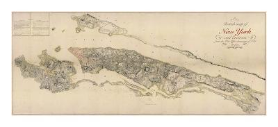 British Map of New York-The Vintage Collection-Premium Giclee Print