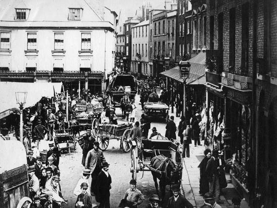 British Market Scene--Photographic Print