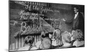 British Means Pluck London Schoolchildren are Taught About the Dangers of Zeppelins