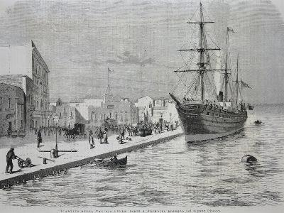 British Merchant Ship Simla Arriving at the Port of Brindisi--Giclee Print