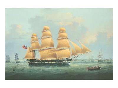 British Merchantman Ship-Samuel Walters-Premium Giclee Print