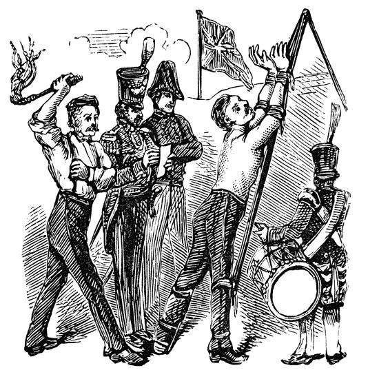 British Military Discipline, 19th Century--Giclee Print