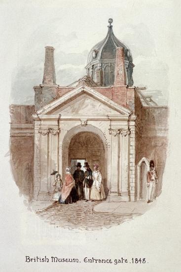 British Museum, Entrance Gate, 1848-James Findlay-Giclee Print