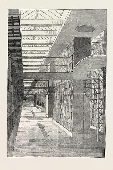 British Museum, the Royal or King's Library, the Long Room, London, UK, 1851--Giclee Print