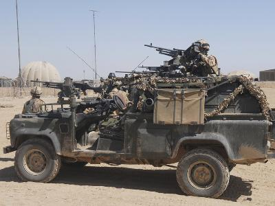British Paratroopers on Patrol in their Land Rover-Stocktrek Images-Photographic Print