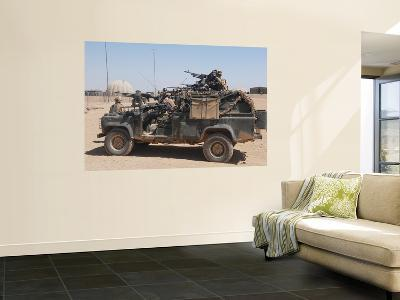 British Paratroopers on Patrol in their Land Rover-Stocktrek Images-Giant Art Print
