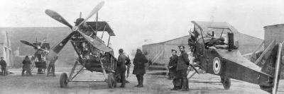 British Royal Flying Corps Aircraft under Repair, C1916--Giclee Print