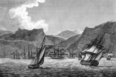 British Shipping Off St Helena, 1817--Giclee Print