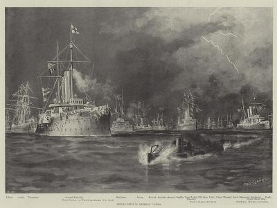 British Ships in American Waters-Fred T. Jane-Giclee Print