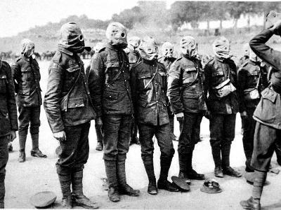 British Soldiers at Respirator-Drill--Photographic Print