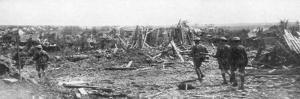 British Soldiers Exploring the Ruins of Albert, Somme, France, 22 August 1918