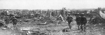 British Soldiers Exploring the Ruins of Albert, Somme, France, 22 August 1918--Giclee Print