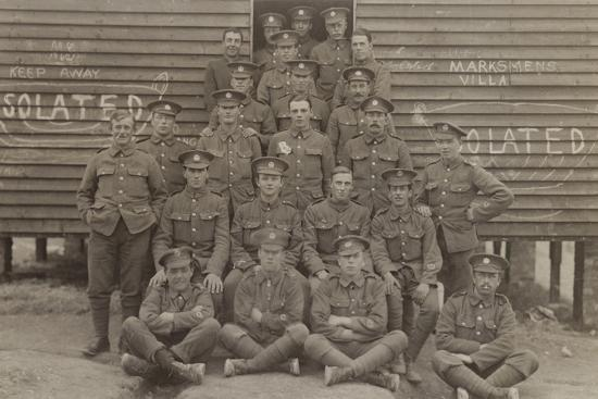 British Soldiers in Front of a Barracks--Photographic Print