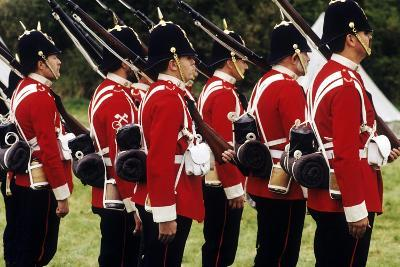 British Soldiers of the 57th Middlesex Regiment, 1880, Historical Re-Enactment--Giclee Print