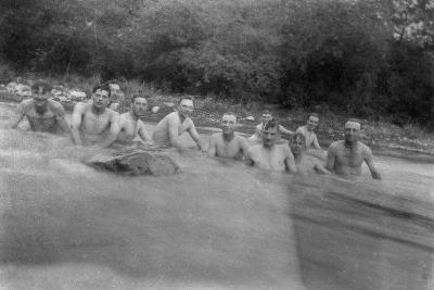 British Soldiers Washing in a Mountain Stream, Kalsi, India, 1917--Giclee Print