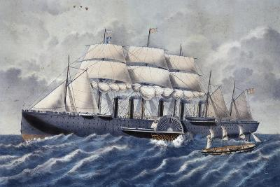 British Steamer Great Eastern, 19th Century--Giclee Print