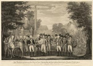 British Surrendering their Arms to General Washington after their Defeat at Yorktown