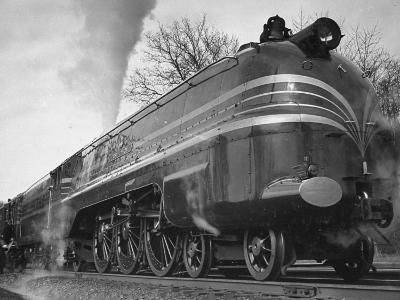 "British Train the ""Coronation Scot"" Traveling Between Baltimore, Maryland and Washington, D.C-Hansel Mieth-Photographic Print"