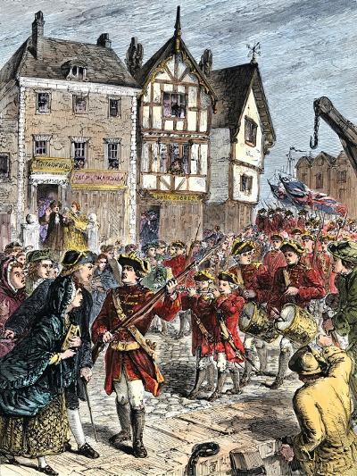 British Troops Entering Boston to Enforce Taxation and Other Colonial Legislation--Giclee Print