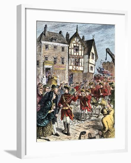 British Troops Entering Boston to Enforce Taxation and Other Colonial Legislation--Framed Giclee Print