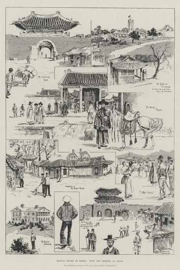 British Troops in Korea, with the Marines at Seoul-Ralph Cleaver-Giclee Print