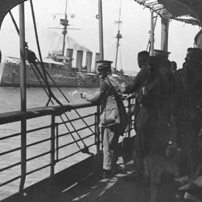 British Troops on a Troopship, World War I, C1914--Photographic Print