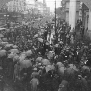British Troops Parading on Adderley Street, Cape Town, South Africa, World War I, C1914-C1918