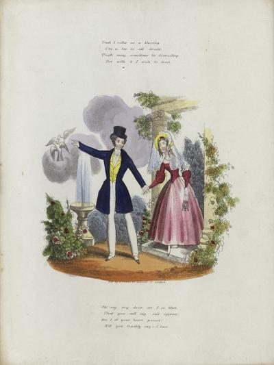 British Valentine Card with an Image of a Man and a Woman Holding Hands--Giclee Print