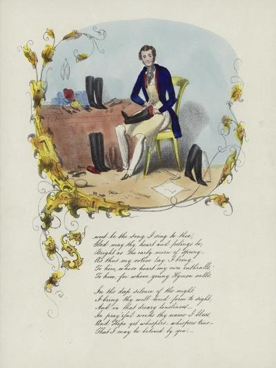 British Valentine Card with an Image of a Man Reparing Boots--Giclee Print