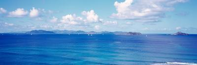 British Virgin Islands, Boats in the Sea--Photographic Print