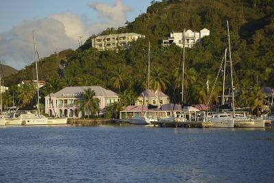British Virgin Islands, Tortola. Boats at the Marina in West End-Kevin Oke-Photographic Print