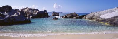 British Virgin Islands, Virgin Gorda, Rock on the Beach--Photographic Print