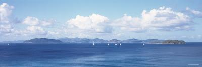 British Virgin Islands, Virgin Gorda, Sailboats in the Sea--Photographic Print